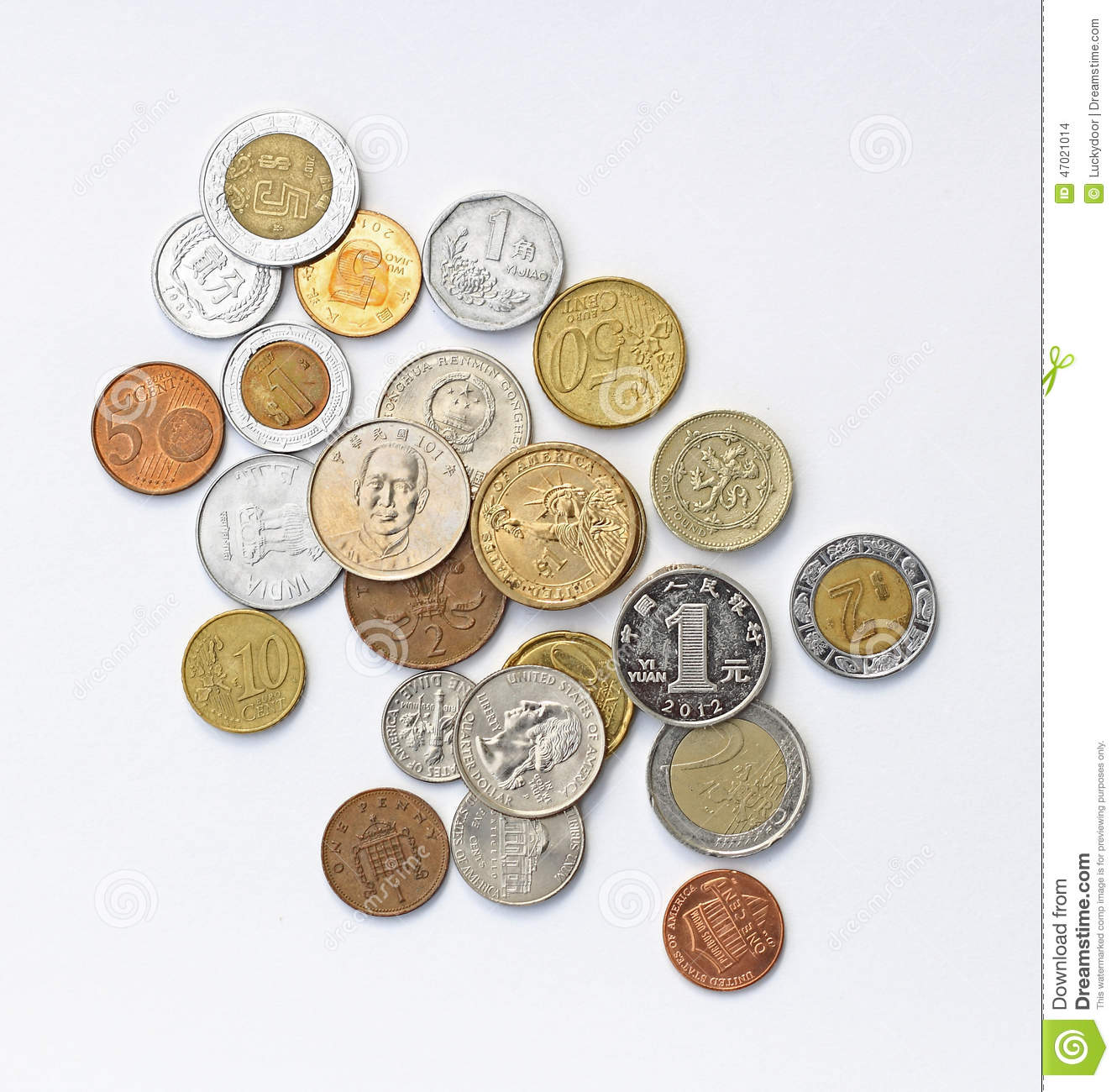 International Coins stock photo  Image of mexican, money