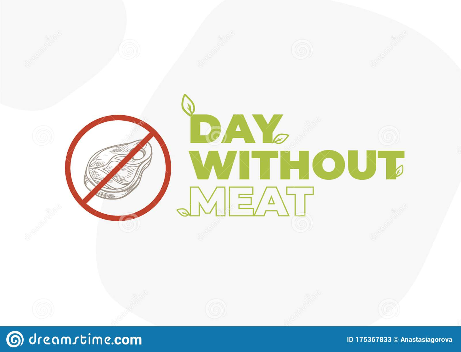 International Day Without Meat Go Vegan Banner Stock Illustration Illustration Of Animal Health 175367833