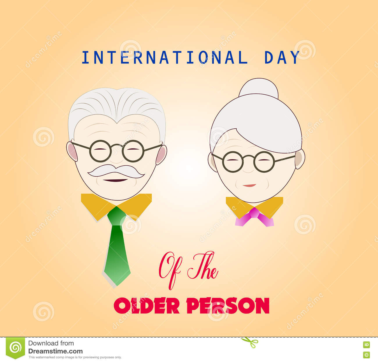 Image of: Babies International Day Of The Older Person Couple Of Older People Dreamstimecom International Day Of The Older Person Couple Of Older People Stock