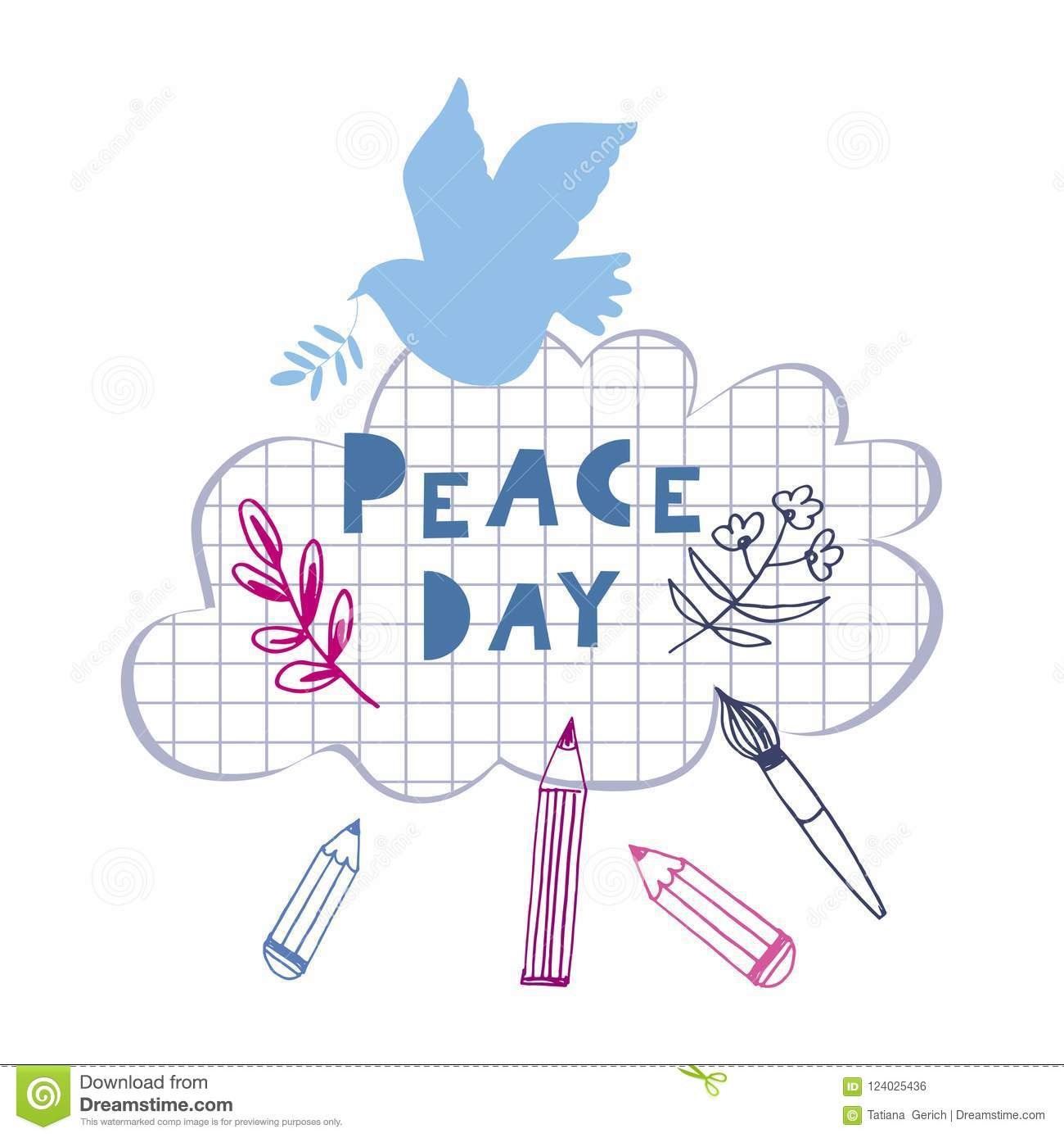 Peace day template poster stock vector. Illustration of design ...