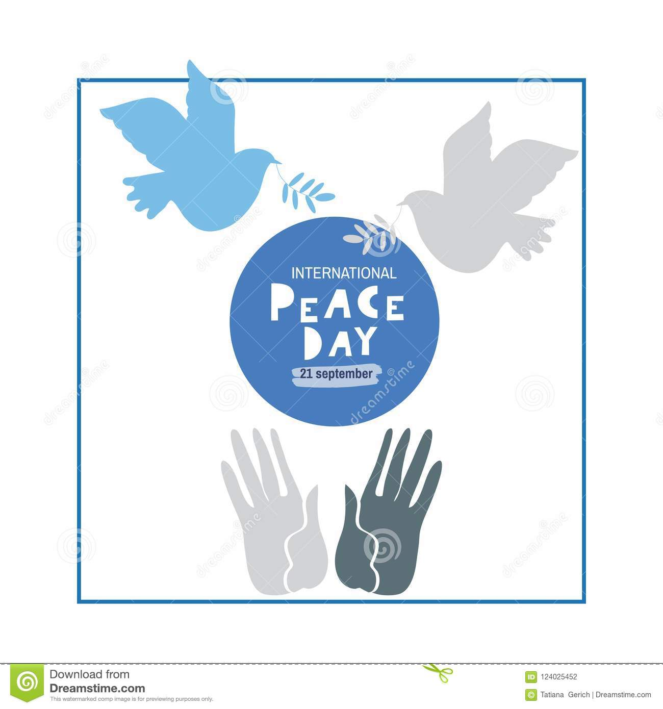 Peace day template poster stock vector. Illustration of illustration ...