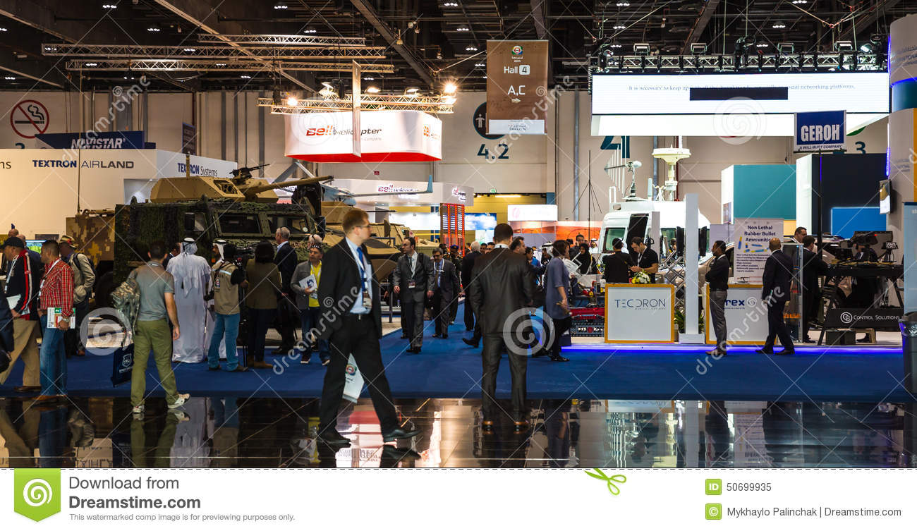 International Defence Exhibition In Abu Dhabi Editorial Image