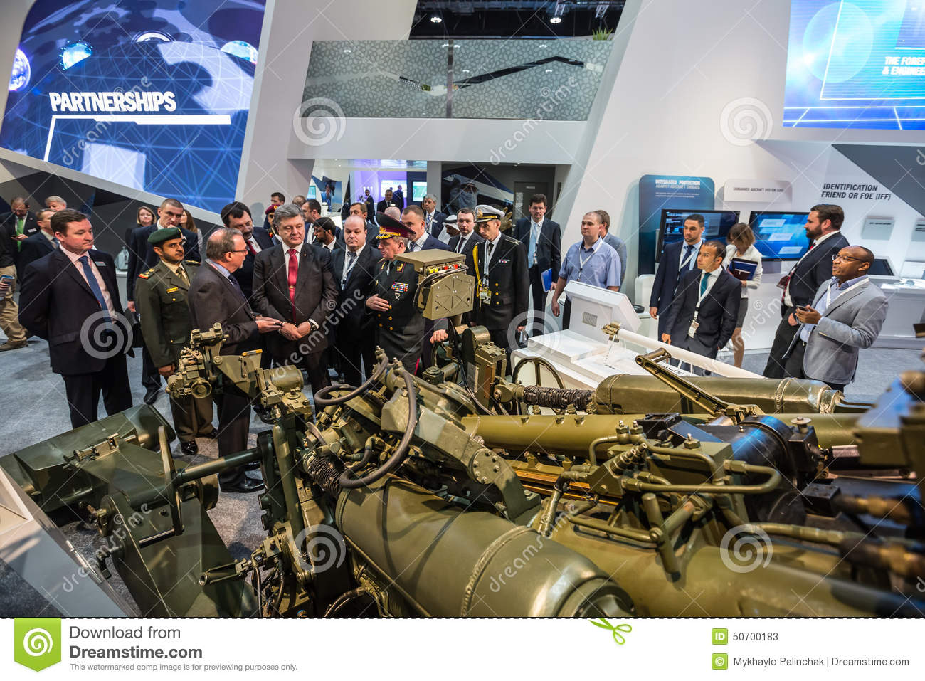 International Defence Exhibition In Abu Dhabi Editorial Stock Photo