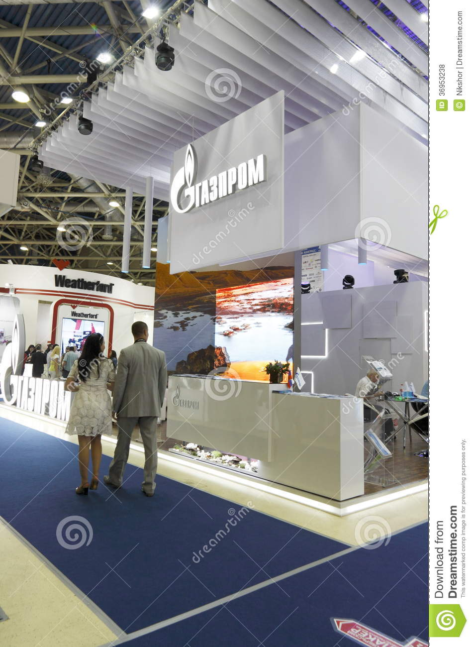 Exhibition Stand Russia : International exhibition editorial stock photo image