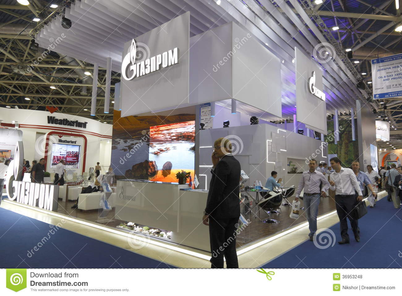Exhibition Stand Production : International exhibition editorial stock photo image of