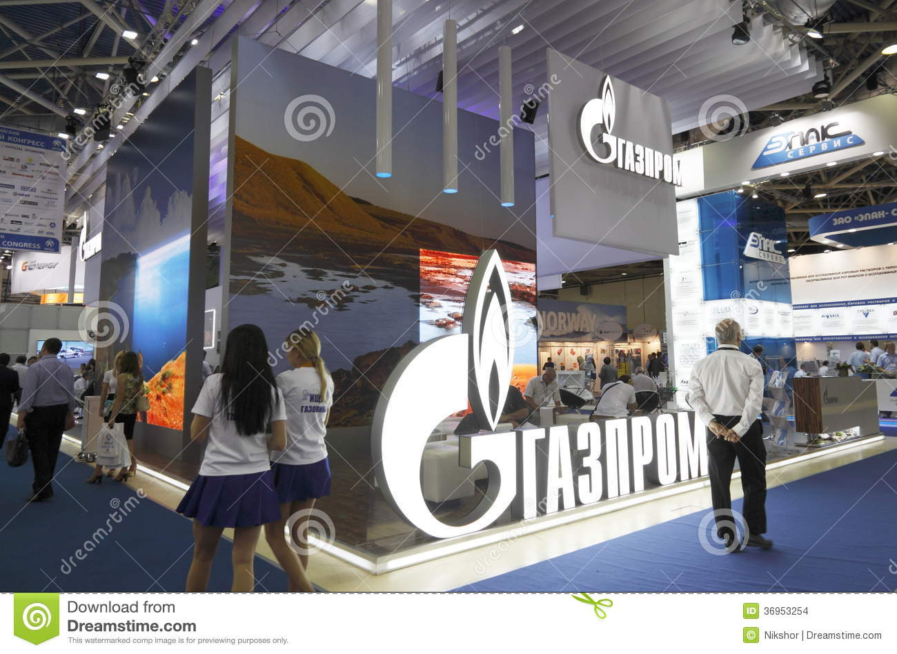 Exhibition Stand Production : International exhibition editorial stock image of