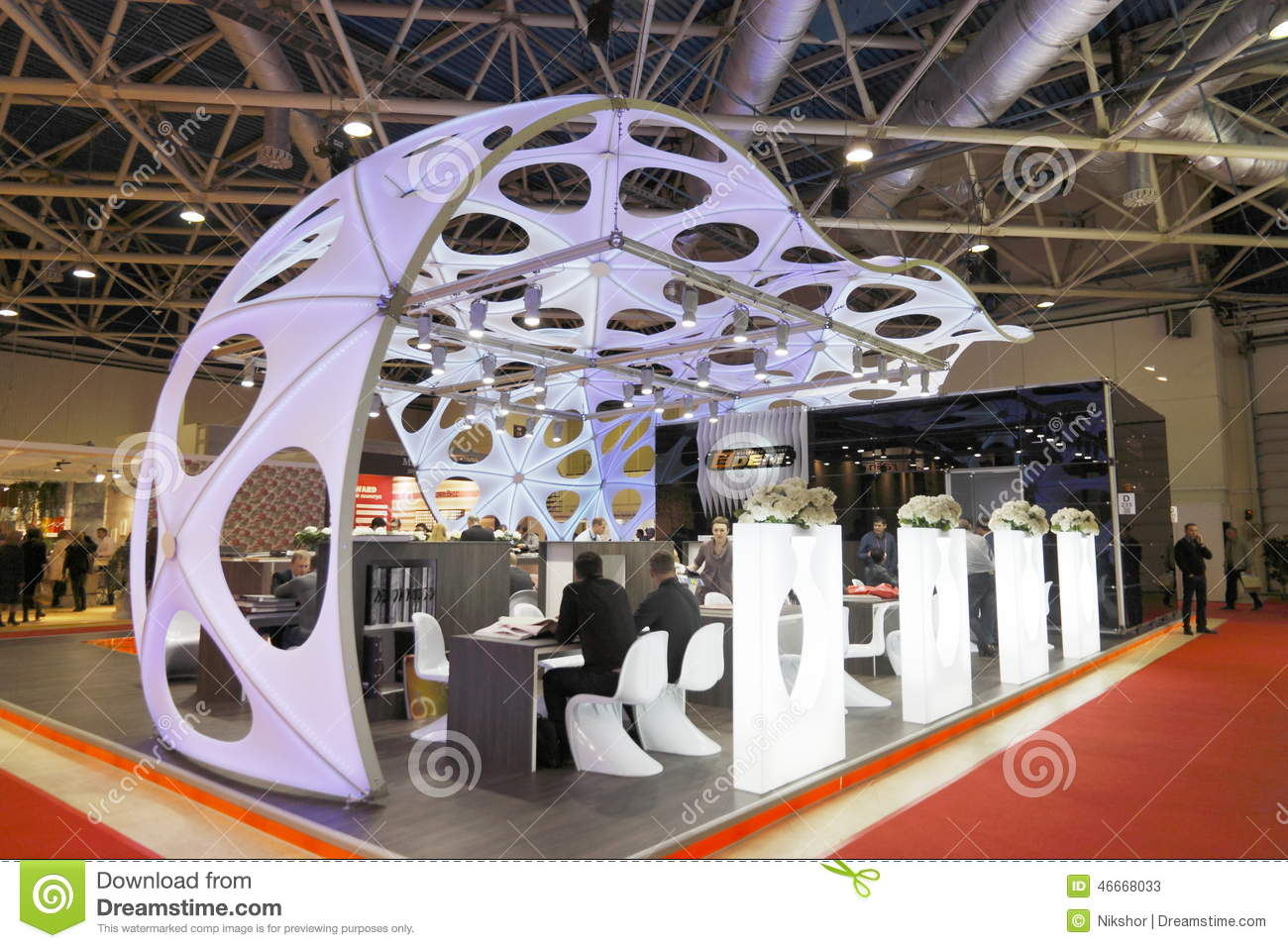 Exhibition Stand Europe : International exhibition editorial stock photo. image of business