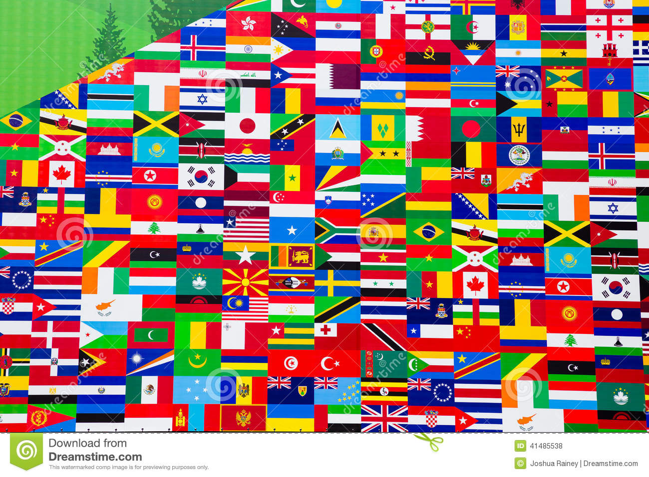 International Flag Display Of Various Countries Stock Photo - Image of nationality, wallpaper: 41485538