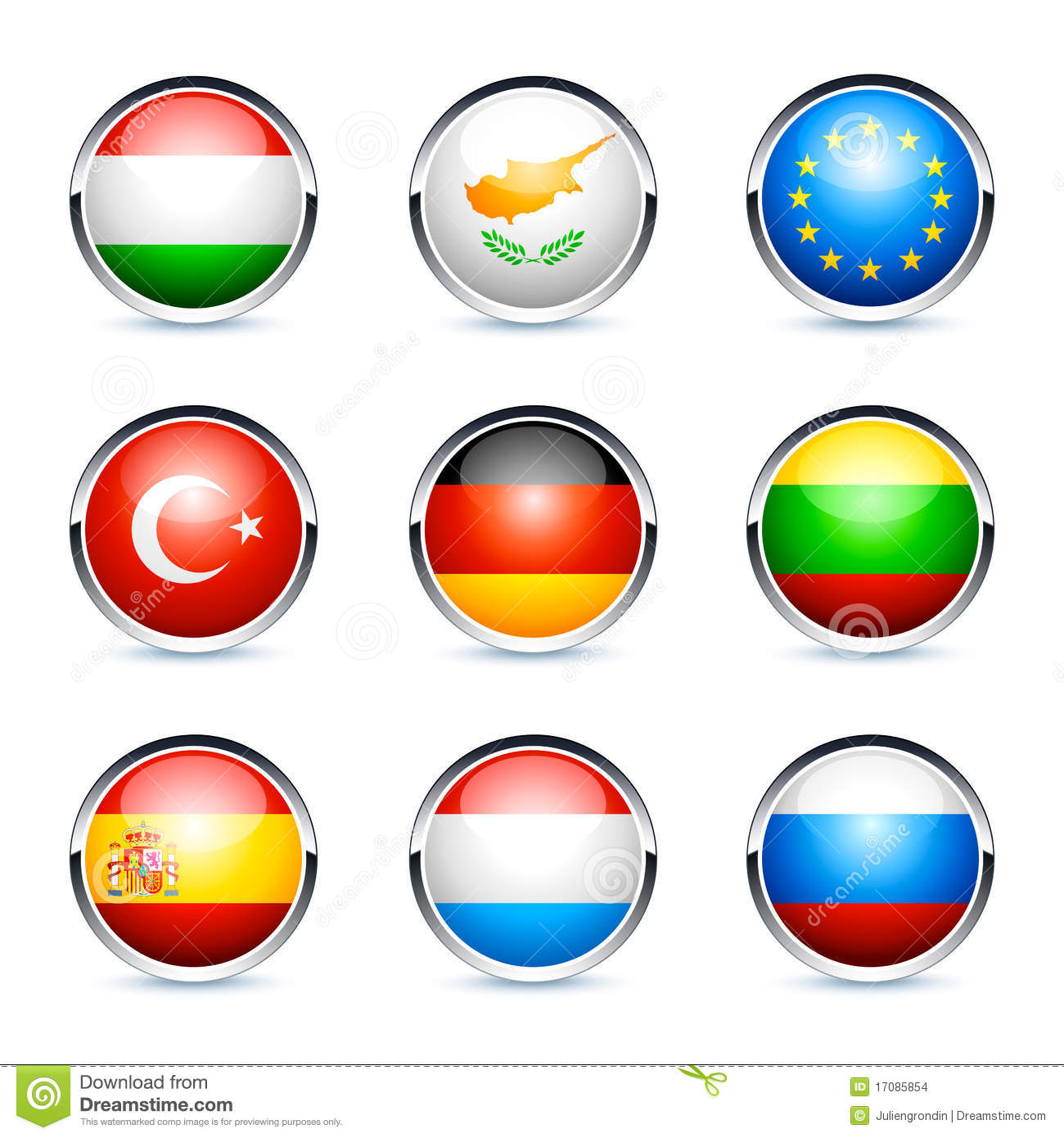 Get globalized with 12 sets of flag icons from all over the world