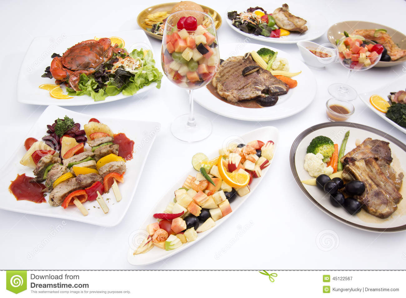 International food on the white table stock image image for Table snack cuisine