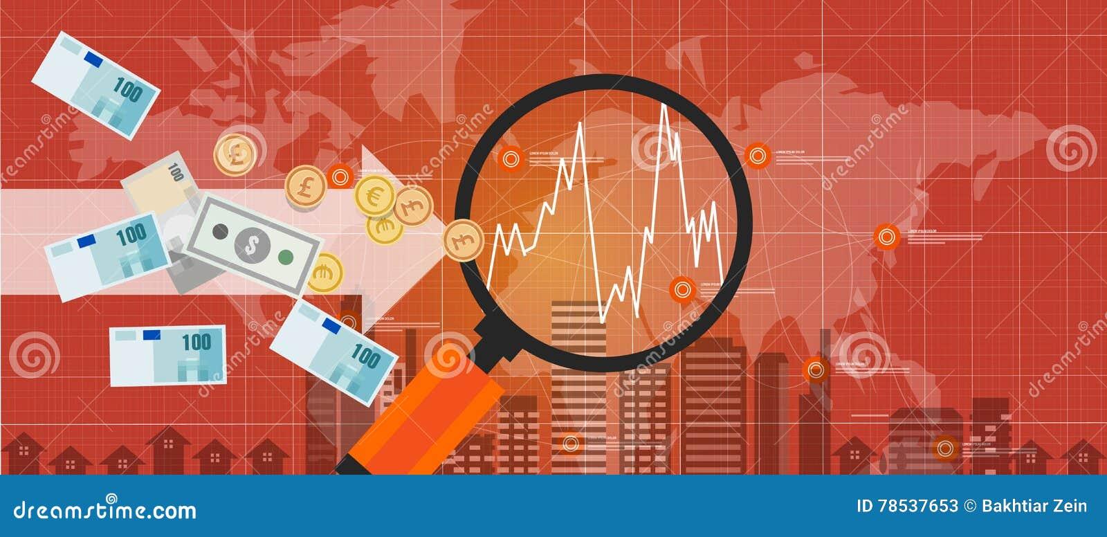 International global del mundo del crecimiento del intercambio de dinero de la inversión extranjera
