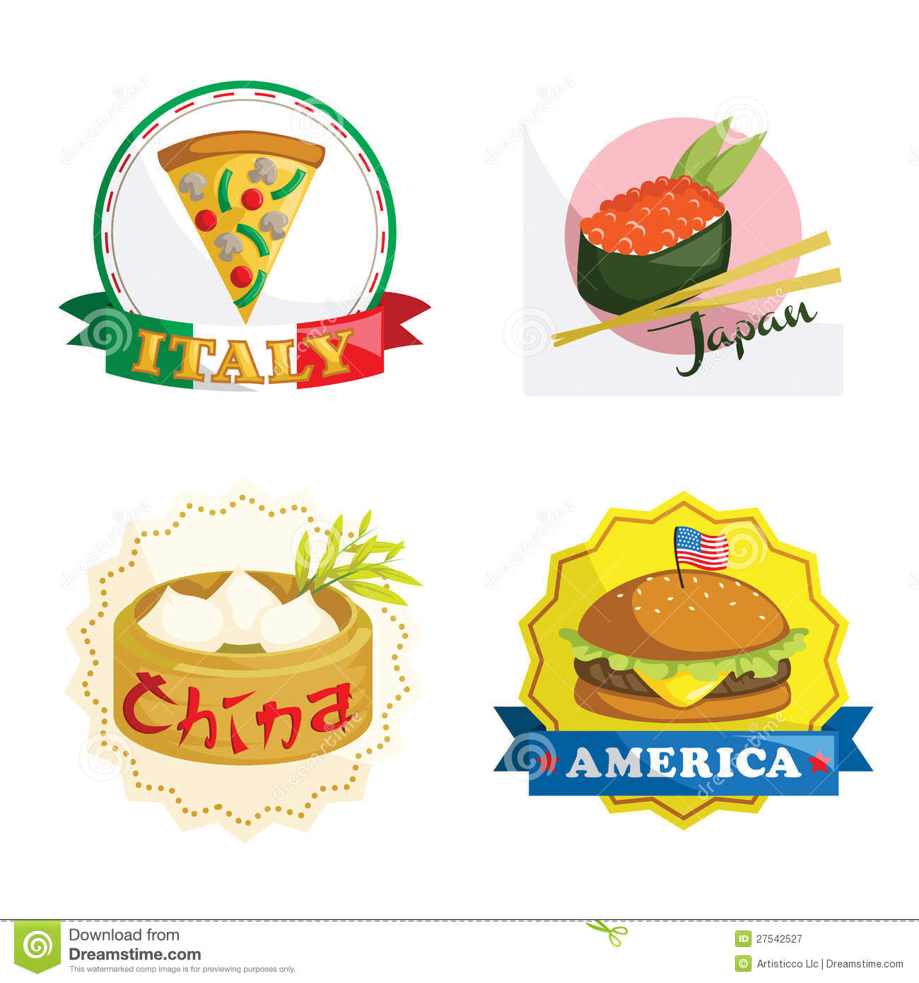 International Gourmet Food Icons Royalty Free Stock Photography ...