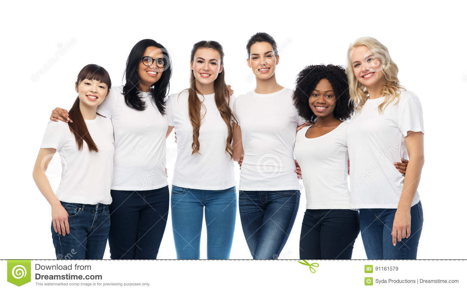international group of happy women hugging stock image image of