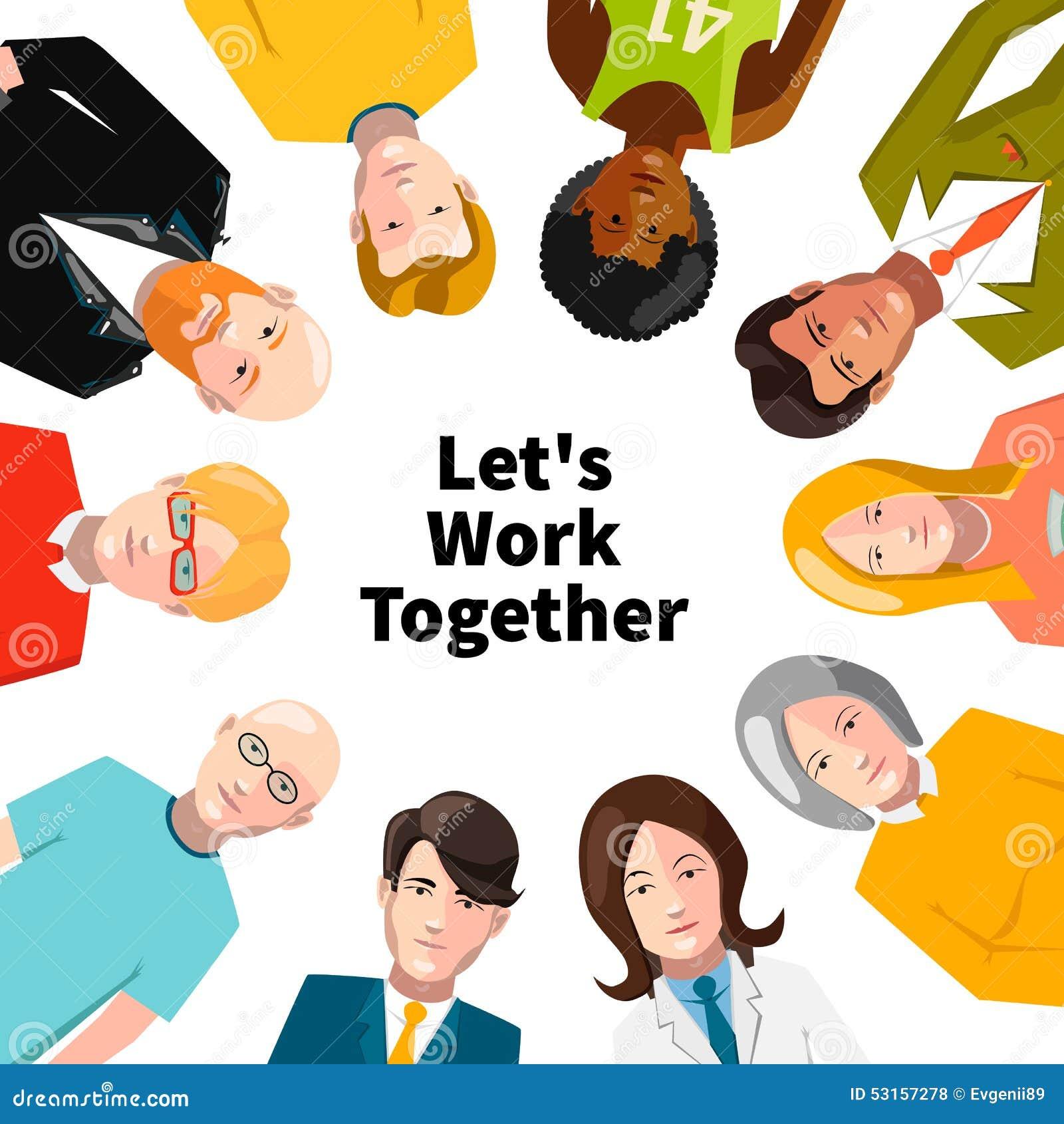 international group of people working in team stock vector image international group of people working in team