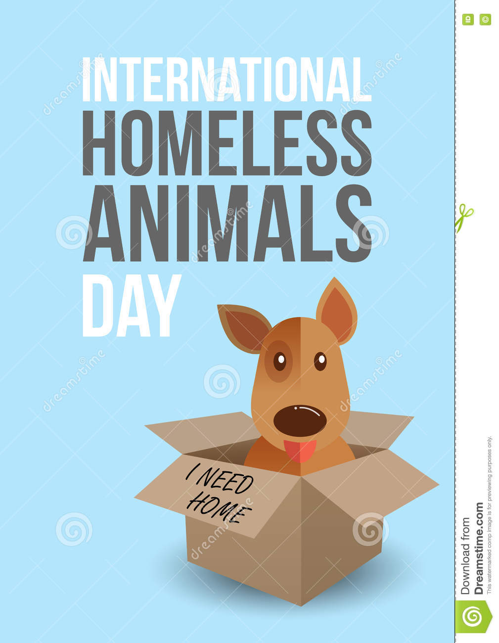 International Homeless Animals Day Cute Dog In A Box