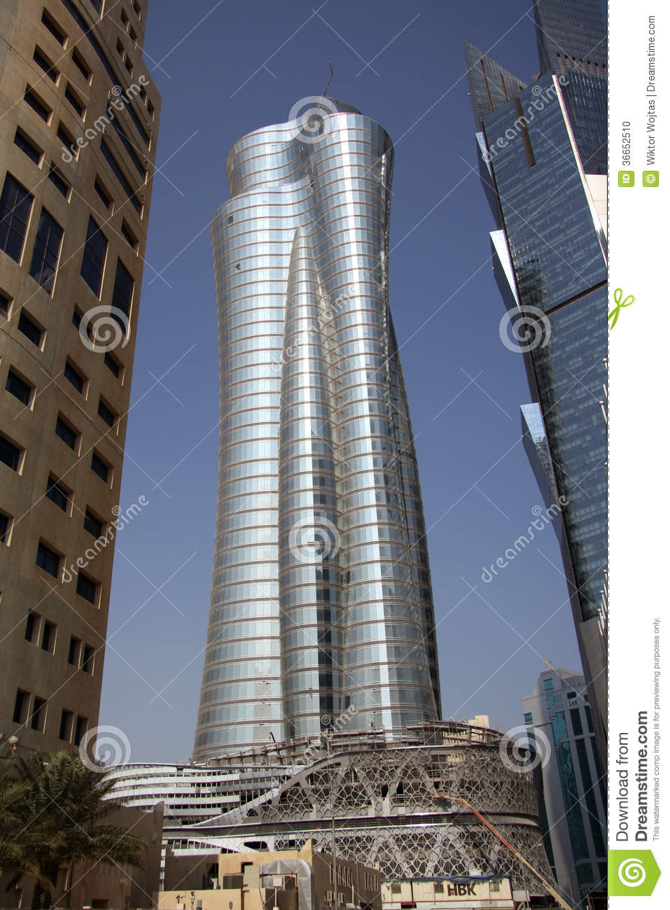 International Islamic Bank Tower In Doha Qatar Editorial