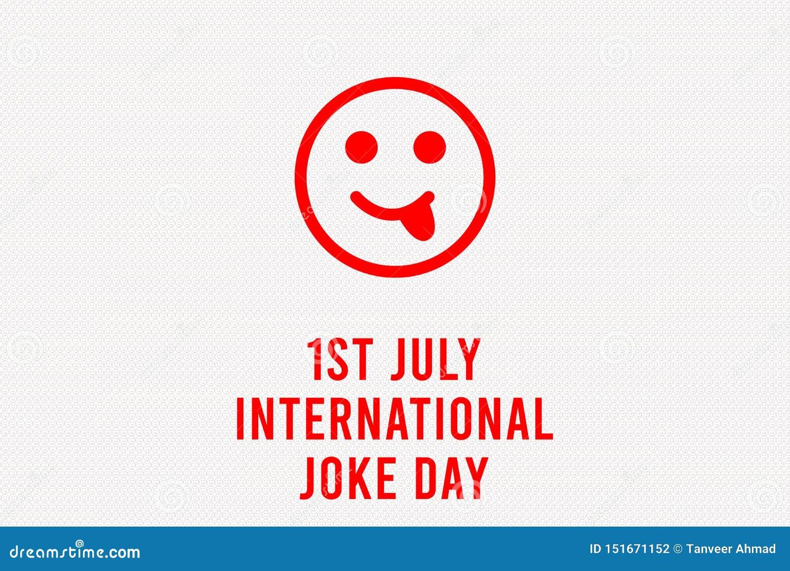 International Joke Day Background Illustration, Happy Yellow