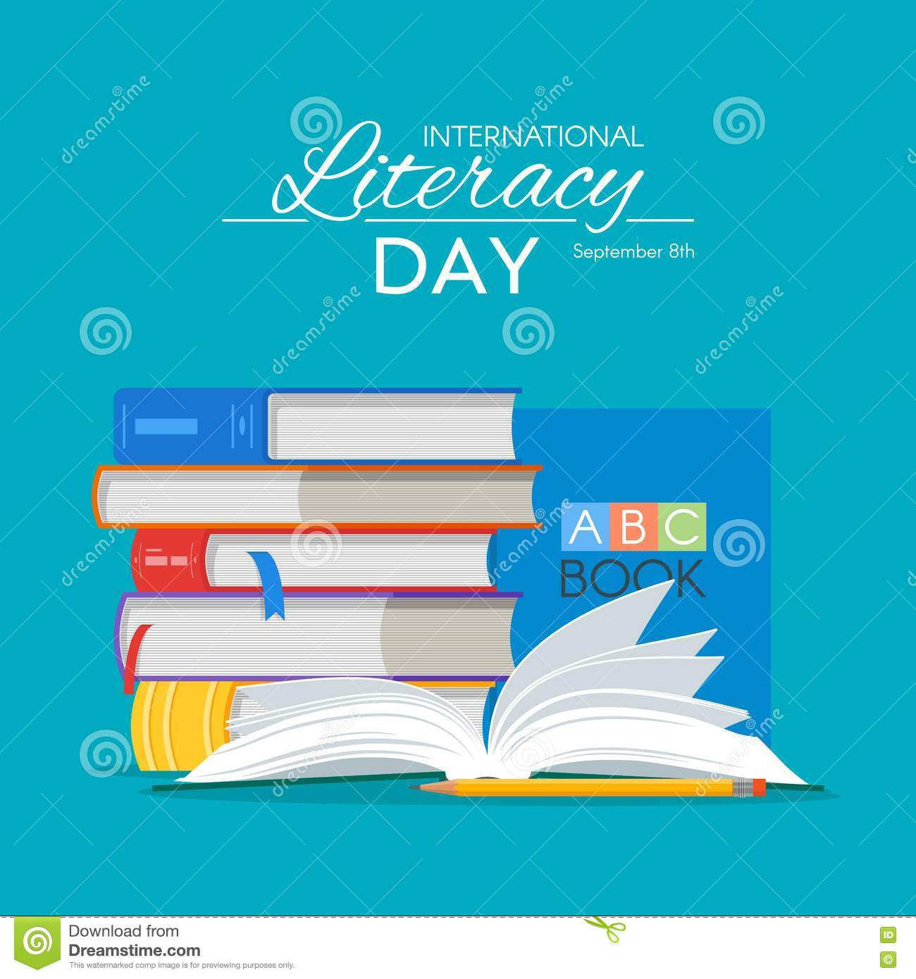 International Literacy Day Poster. Education Concept Vector ...