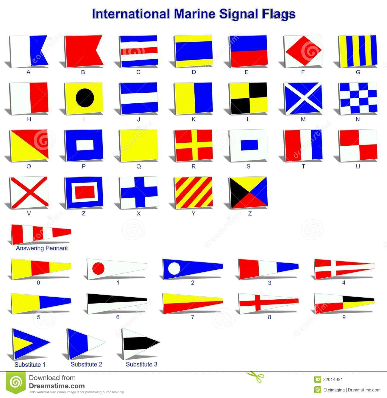 International marine signal flags stock illustration for Who sells fishing license near me