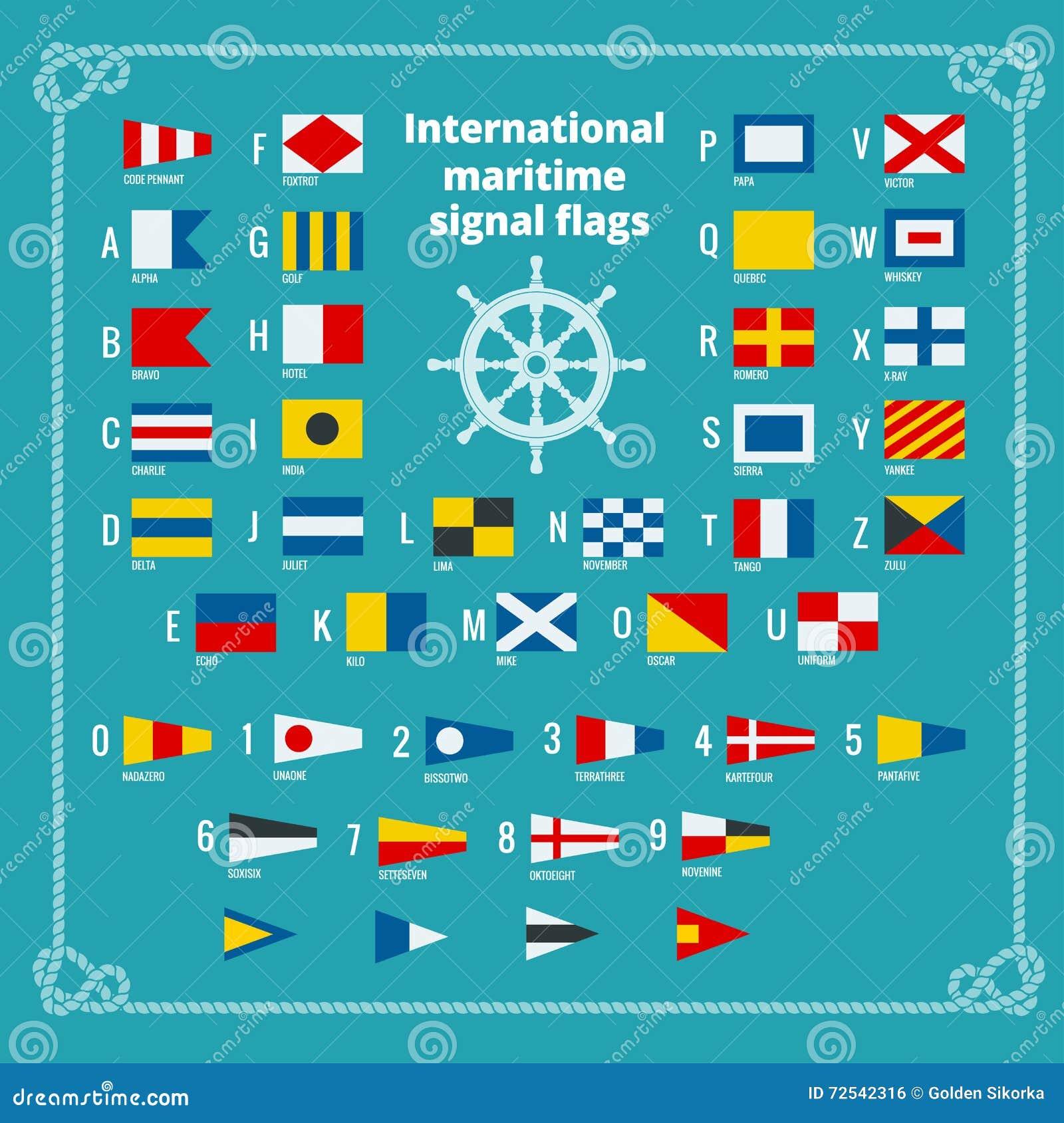 Assez International Maritime Signal Flags - Sea Alphabet Royalty Free  YK29