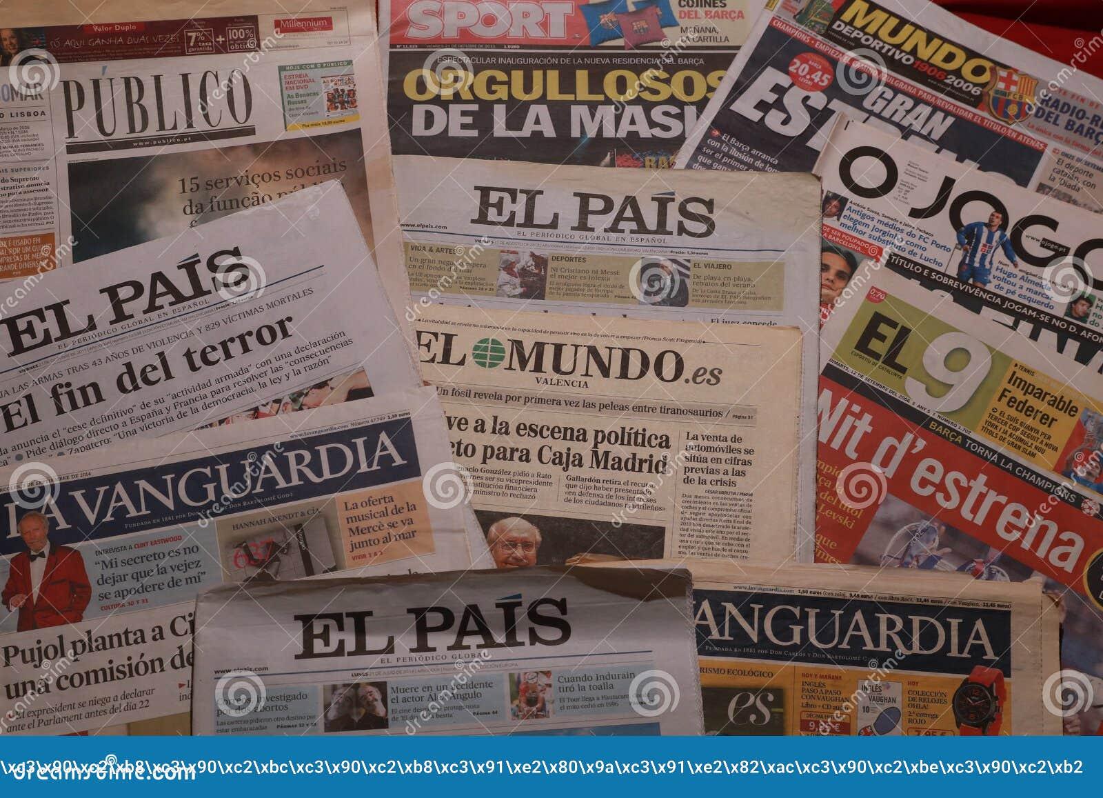 International Newspaper, Spanish And Portuguese Newspapers