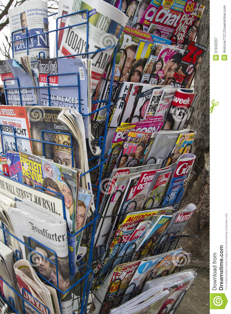 International Newspapers And Magazine Stand Editorial Photography ...