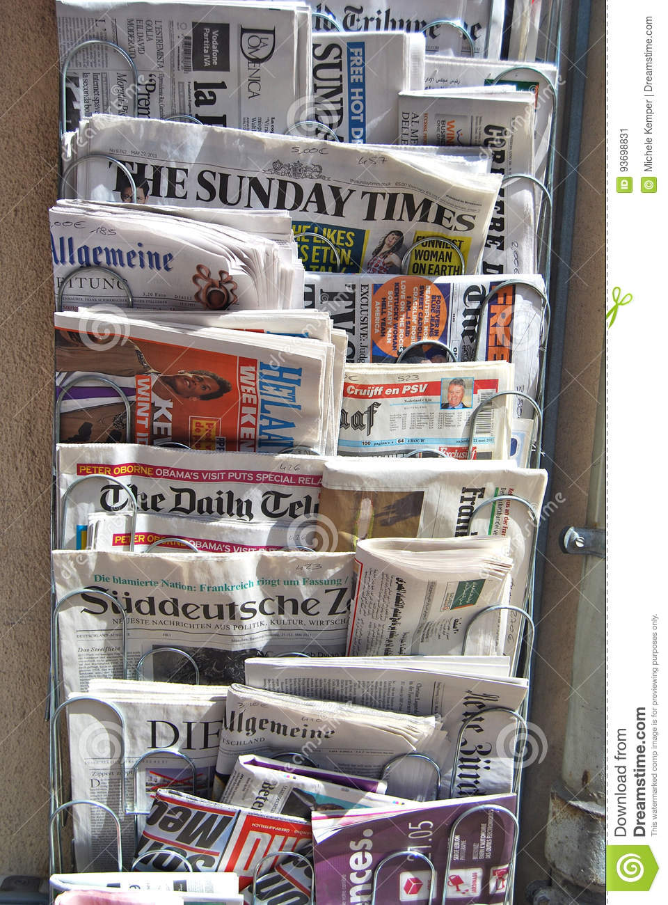 International Newsstand stock image  Image of abstract