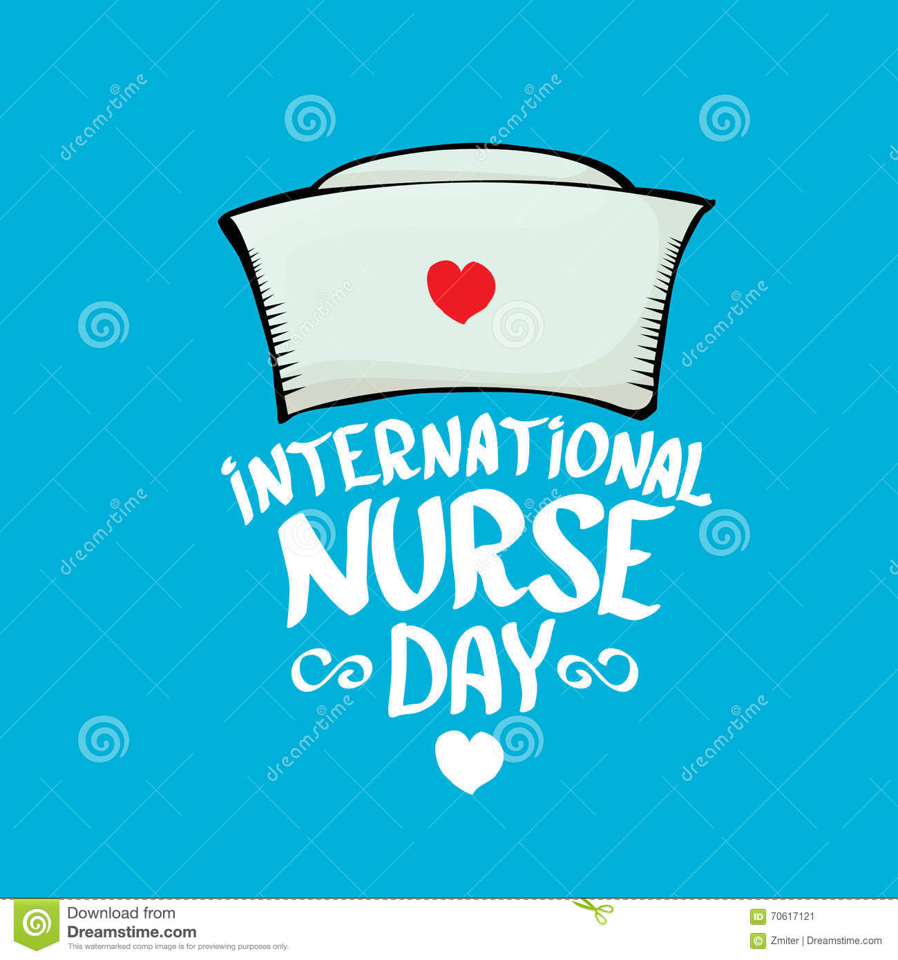 International nurse day vector greeting card
