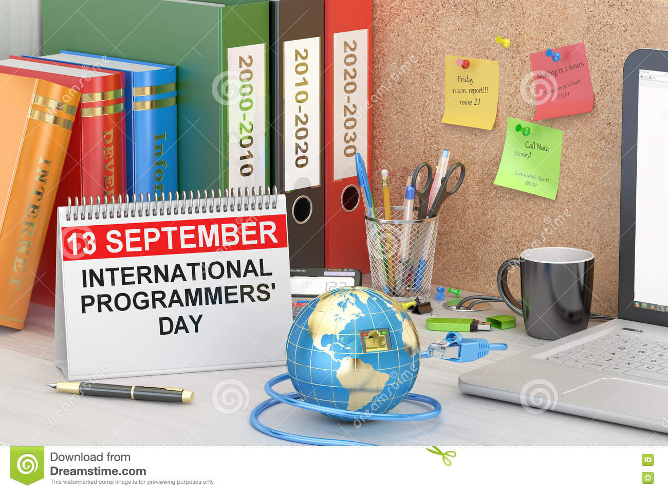 International Programmers Day Concept 3d Rendering Stock
