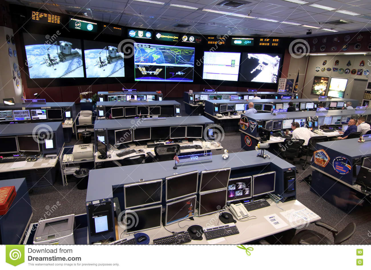 International Space Station Mission Control Center ...