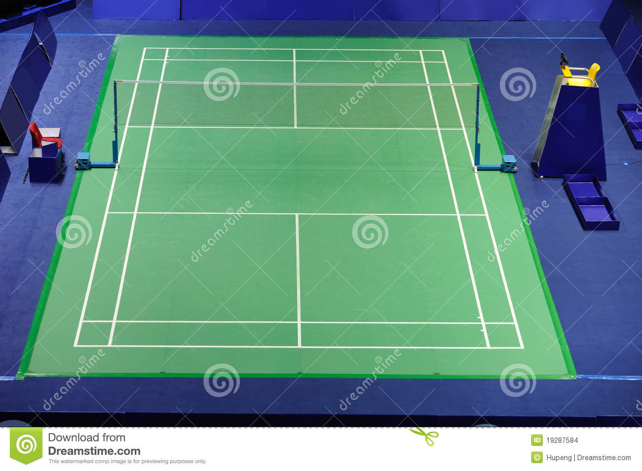 International Standard Badminton Court Stock Images