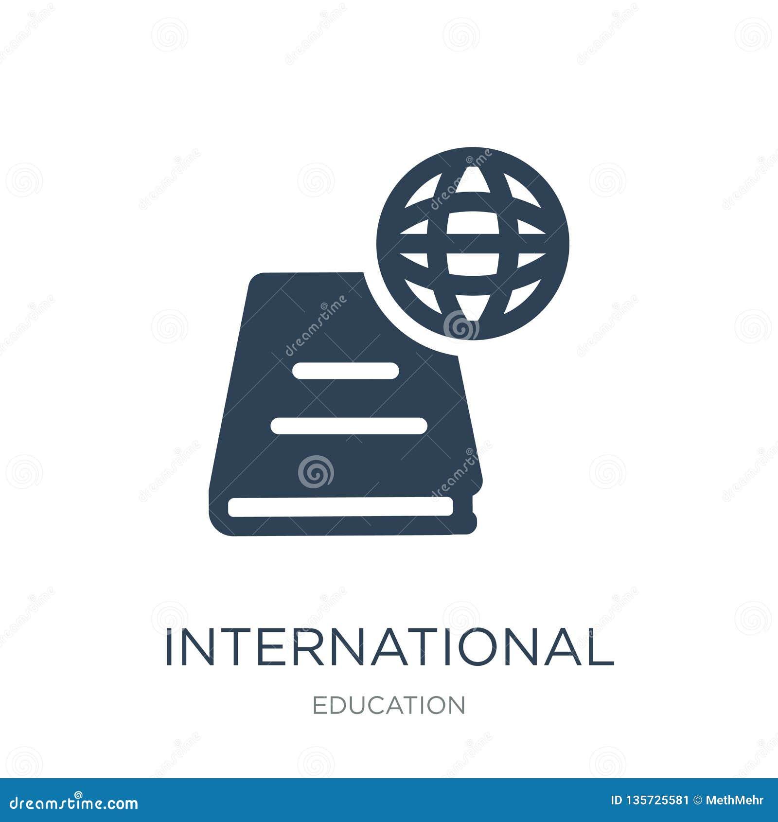 international studies icon in trendy design style. international studies icon isolated on white background. international studies