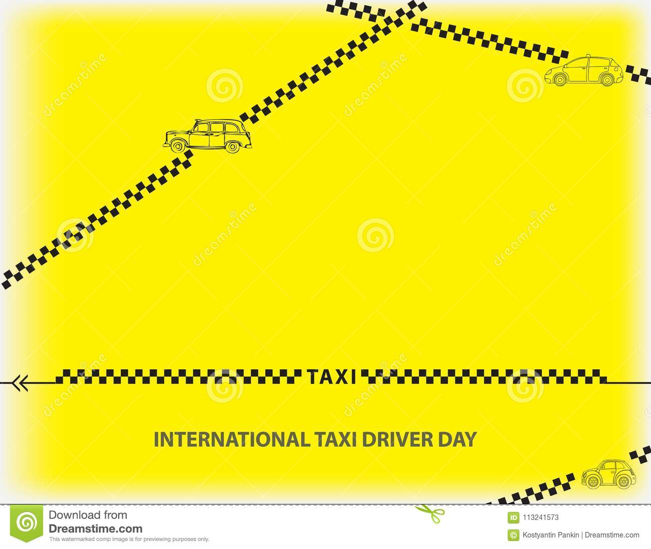 International Taxi Driver Day Stock Vector - Illustration of