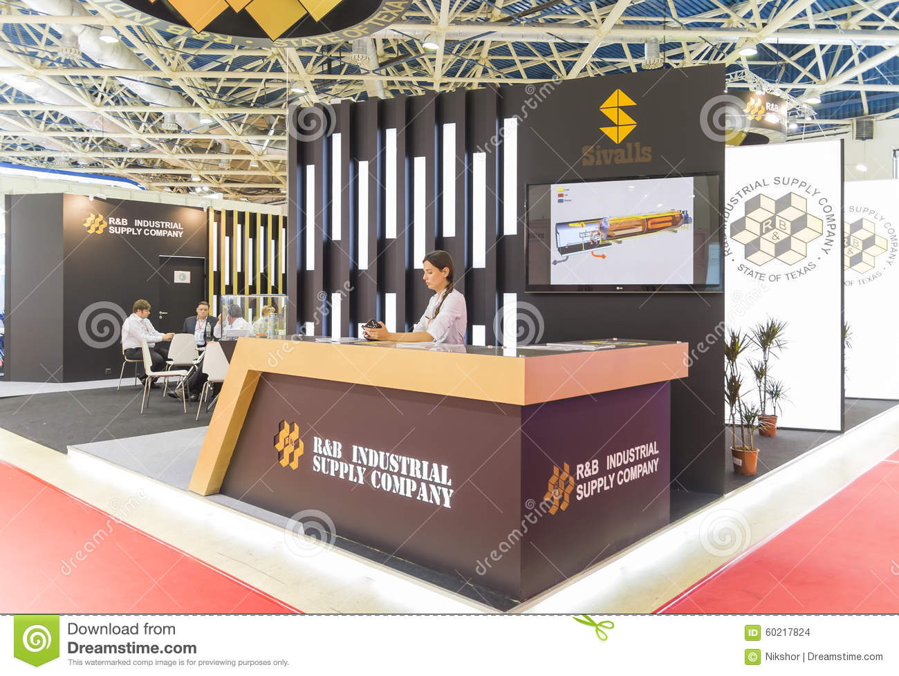 International trade fair mioge editorial stock image for Industrial distribution group