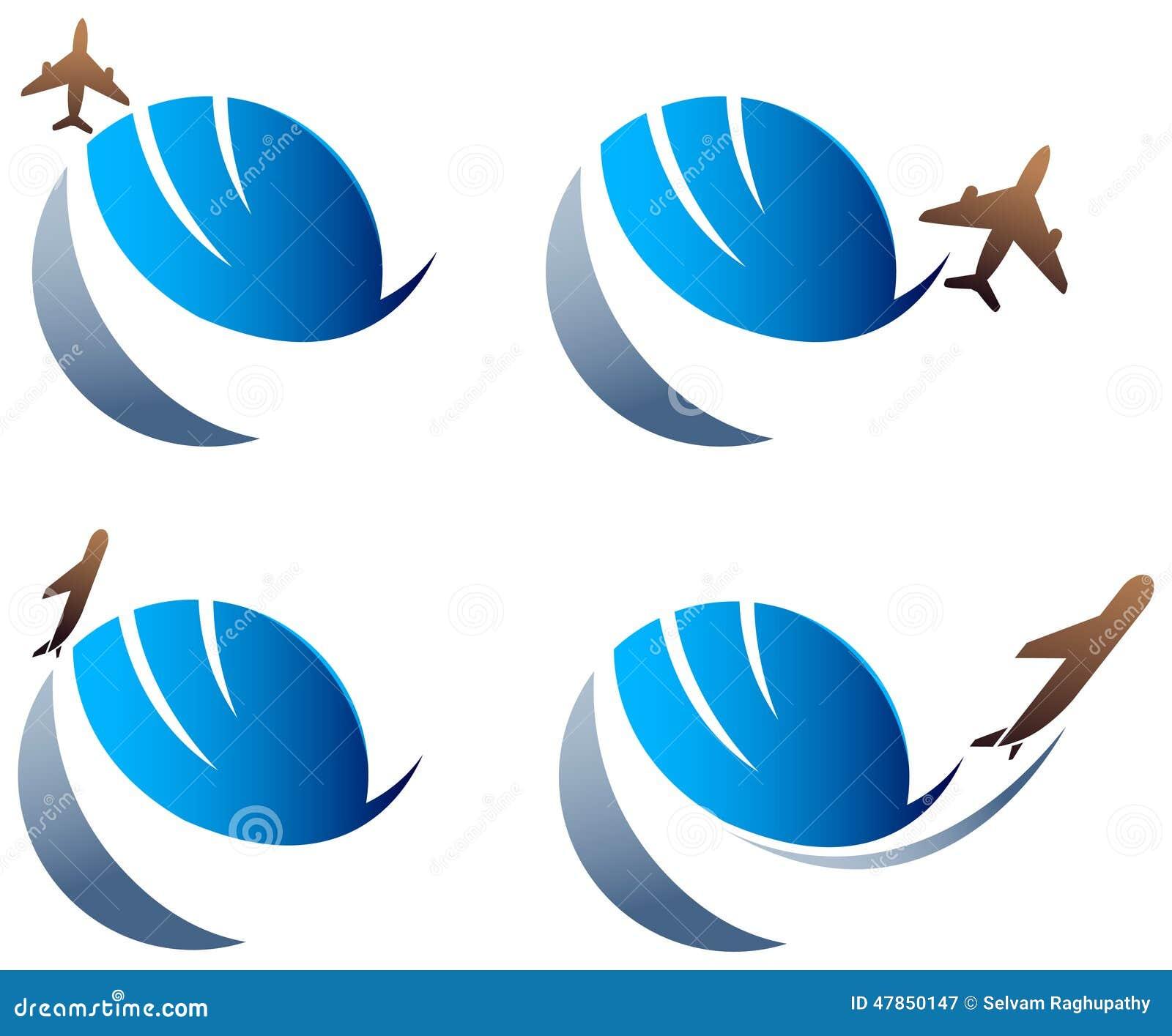 international travel logo stock vector  illustration of