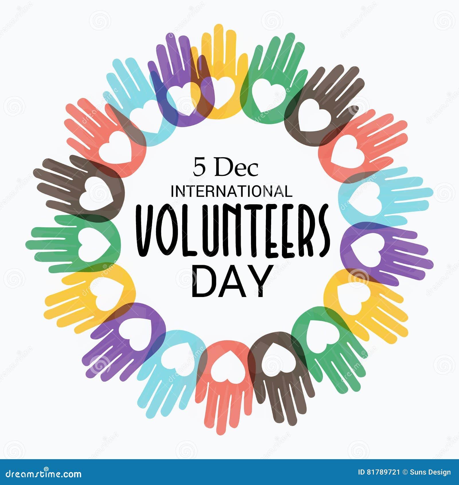 international volunteers day creative banner poster 81789721