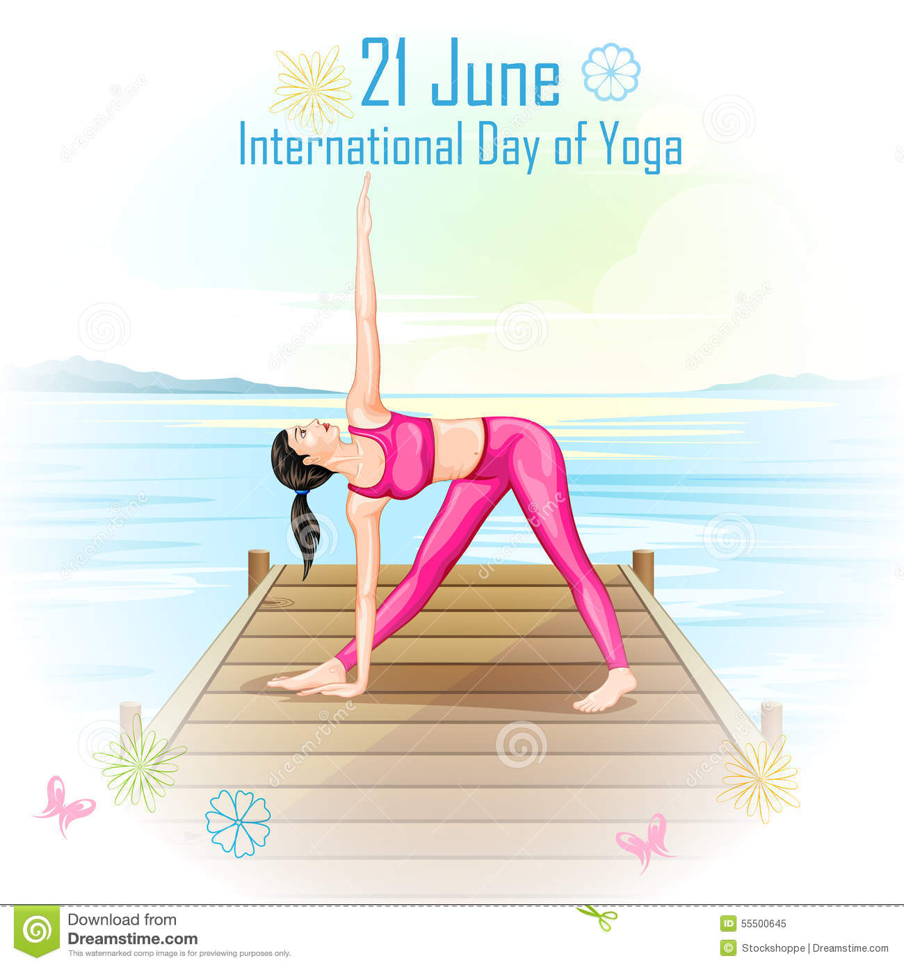 Poster design yoga - International Yoga Day Royalty Free Stock Photo