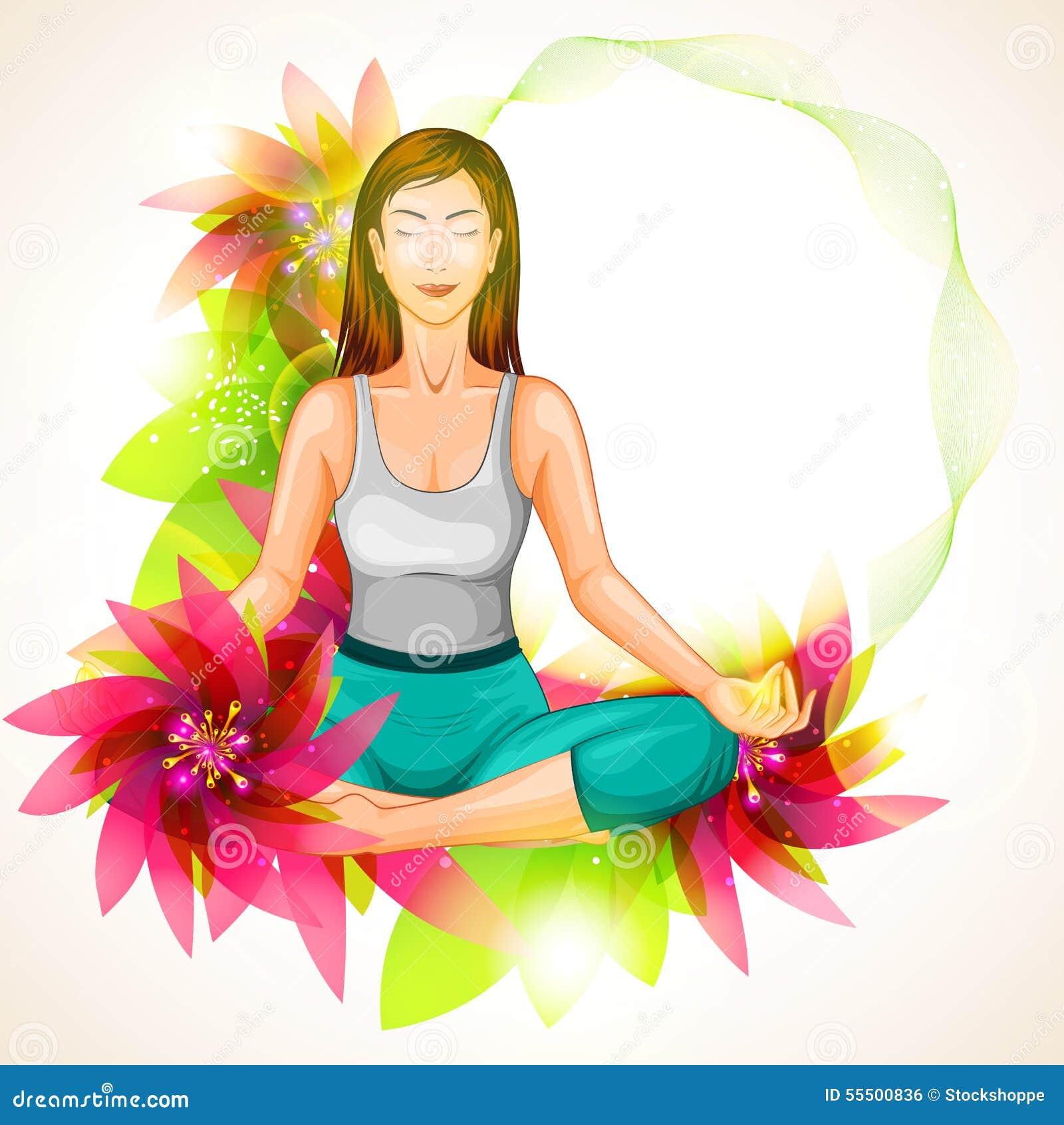 International Yoga Day Stock Vector Illustration Of Fitness 55500836