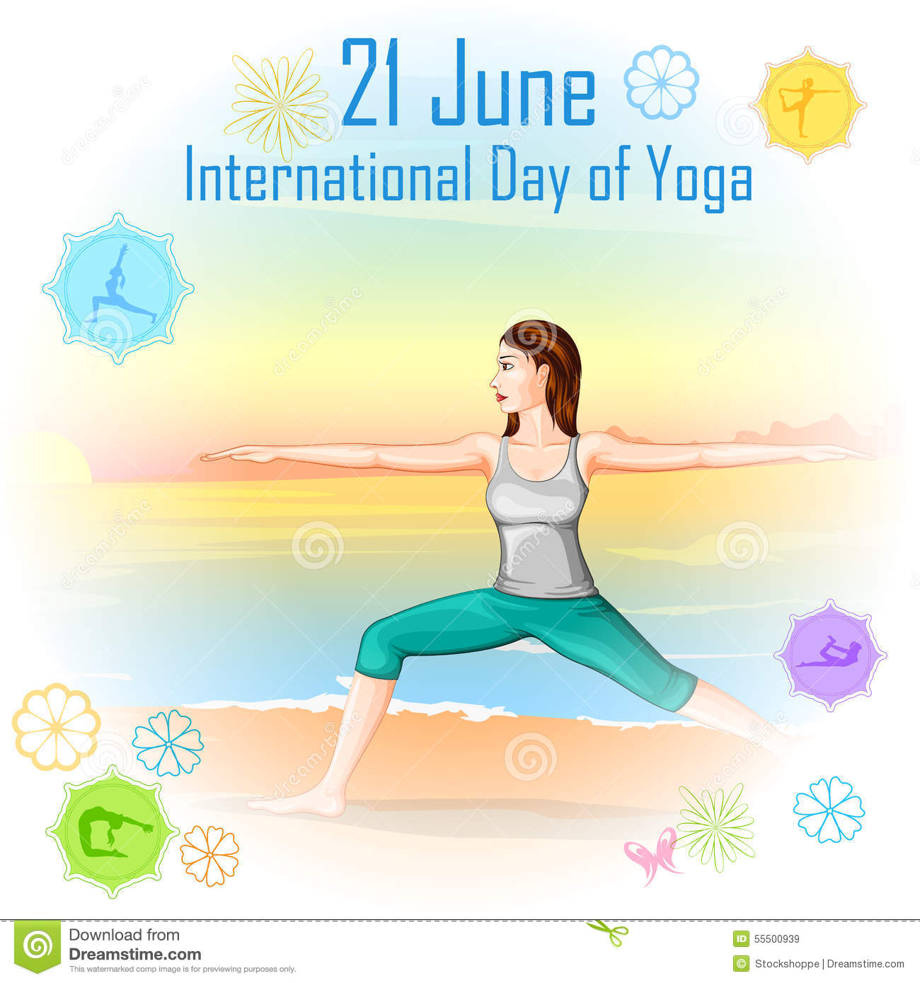 International Yoga Day Pose Peaceful