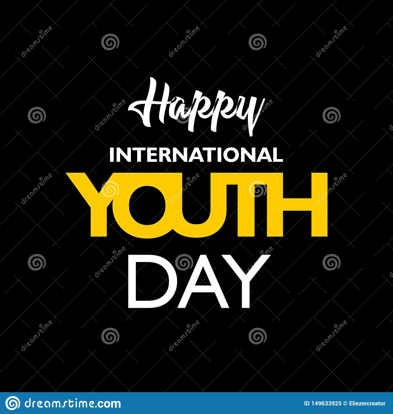 international youth day stock vector illustration of