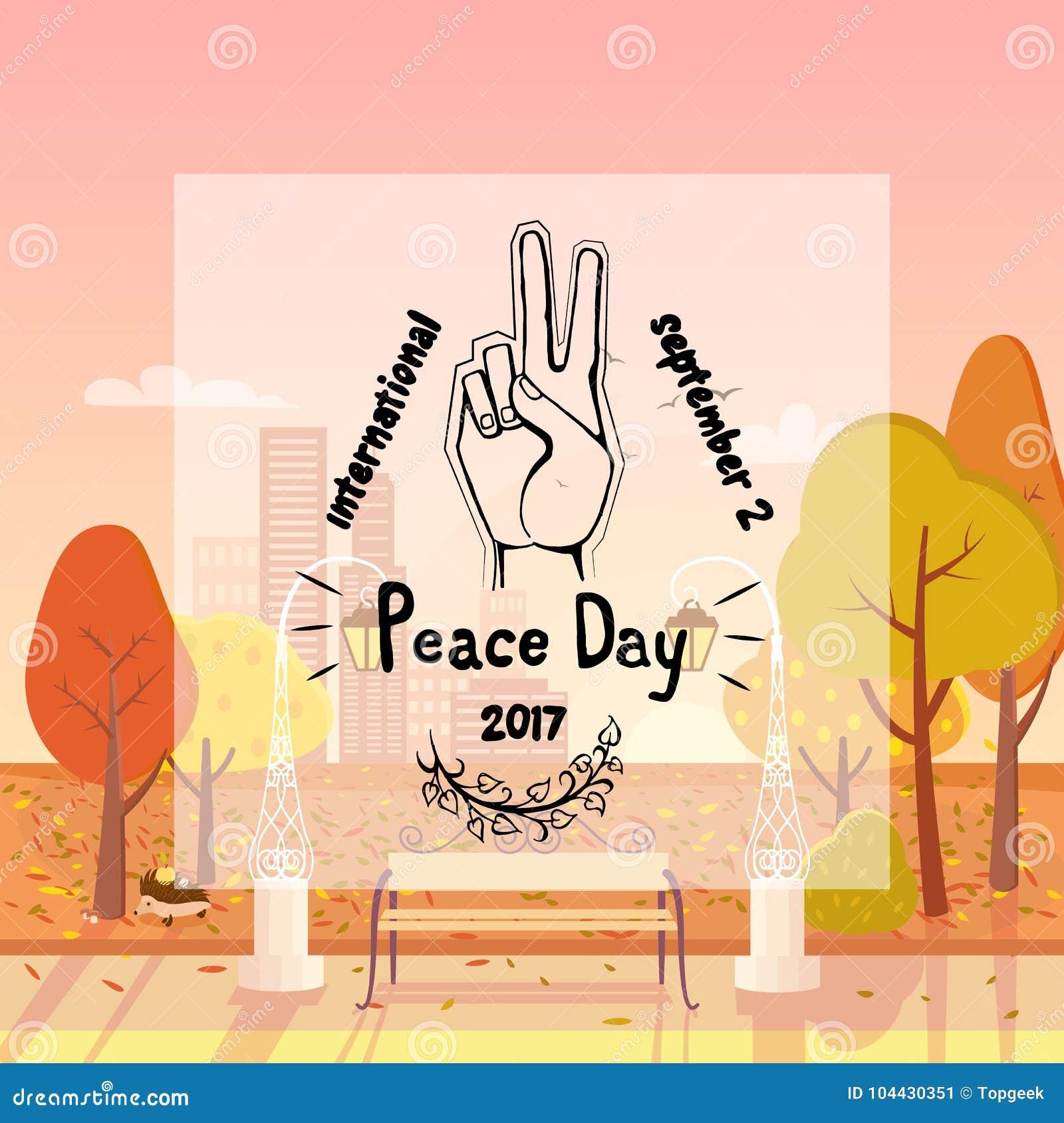 Internationale Affiche 21 September 2017 van de Vredesdag