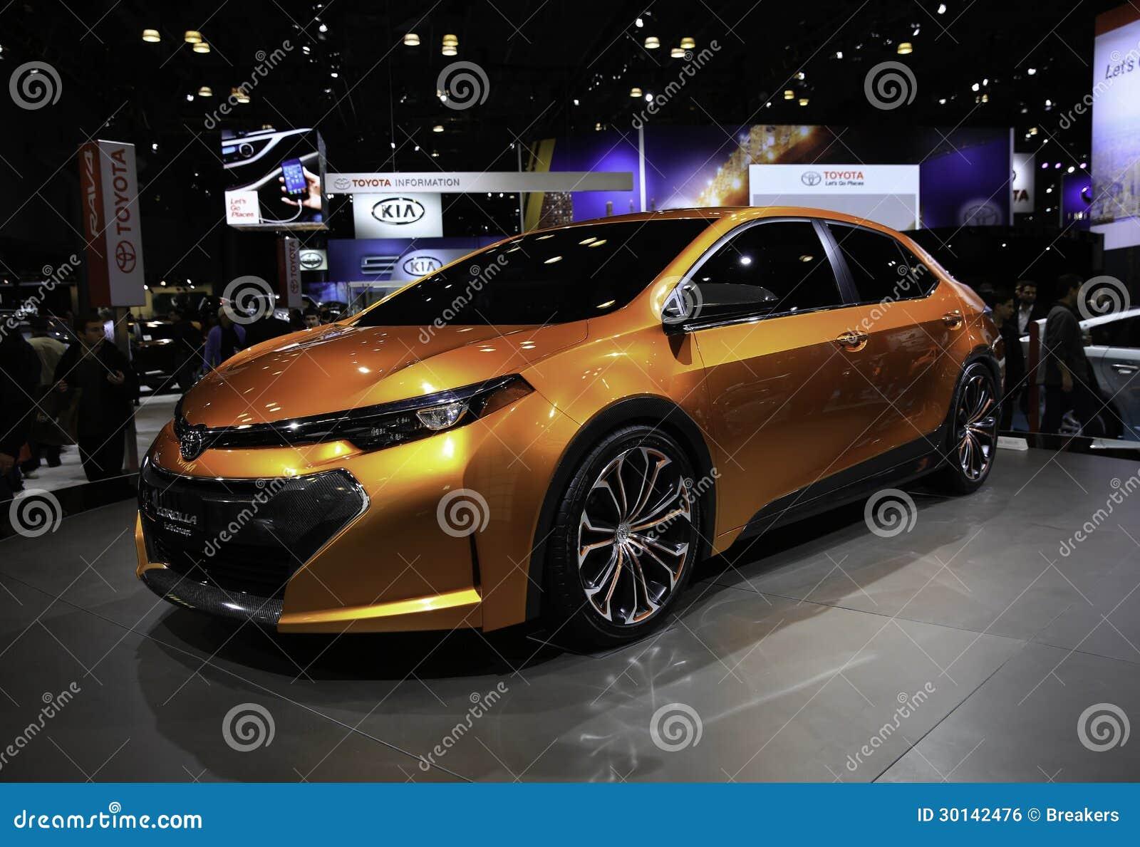 2014 het Concept van Toyota Corolla Furia dat bij wordt gedemonstreerd