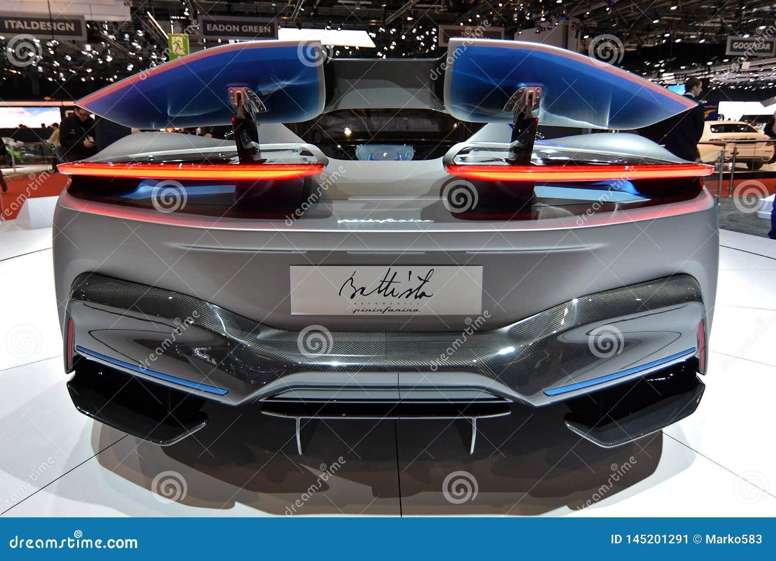Internationale de Motorshow van 89ste Genève - Pininfarina Battista