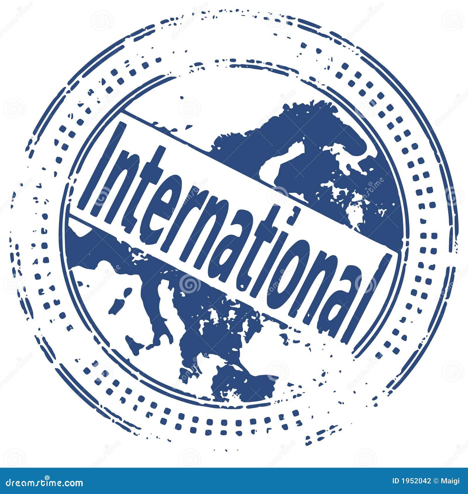 INTERNATIONALE de zegel van Grunge