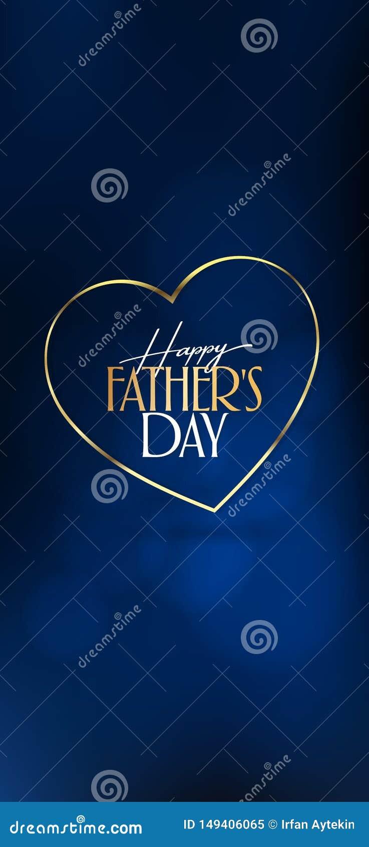 Internationale Gelukkige Vaderdag Aanplakbord, Affiche, Sociale Media, het malplaatje van de Groetkaart