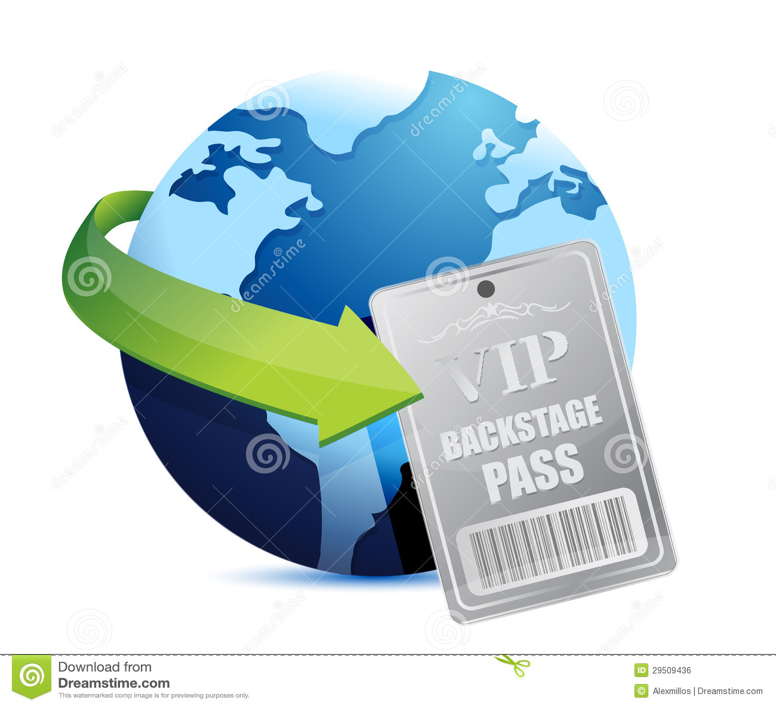 Internationale globale vip van de Coulissepas