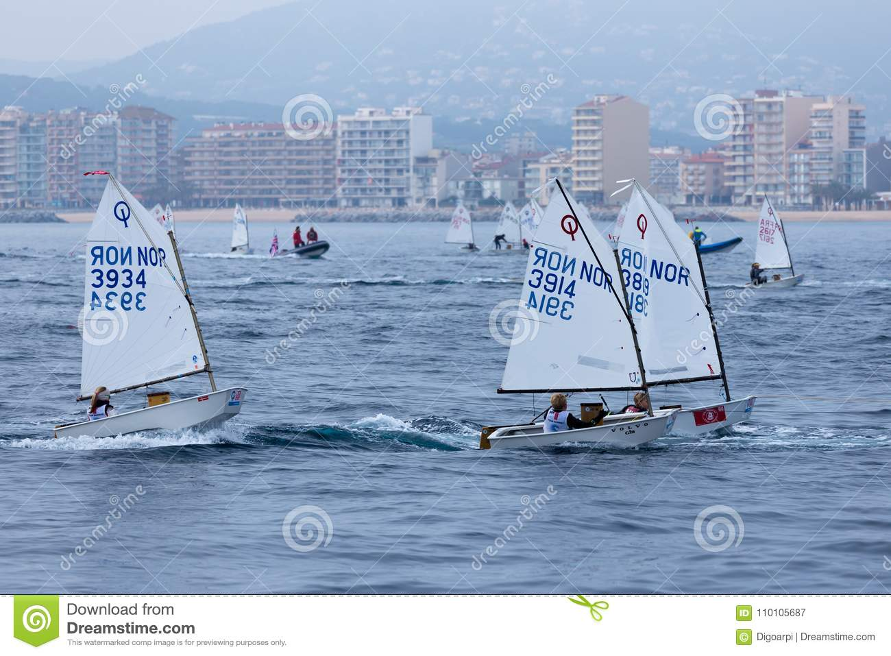 29. INTERNATIONALE PALAMOS-OPTIMIST-TROPHÄE 2018, 13. NATIONS-SCHALE, am 16. Februar 2018, Stadt Palamos, Spanien