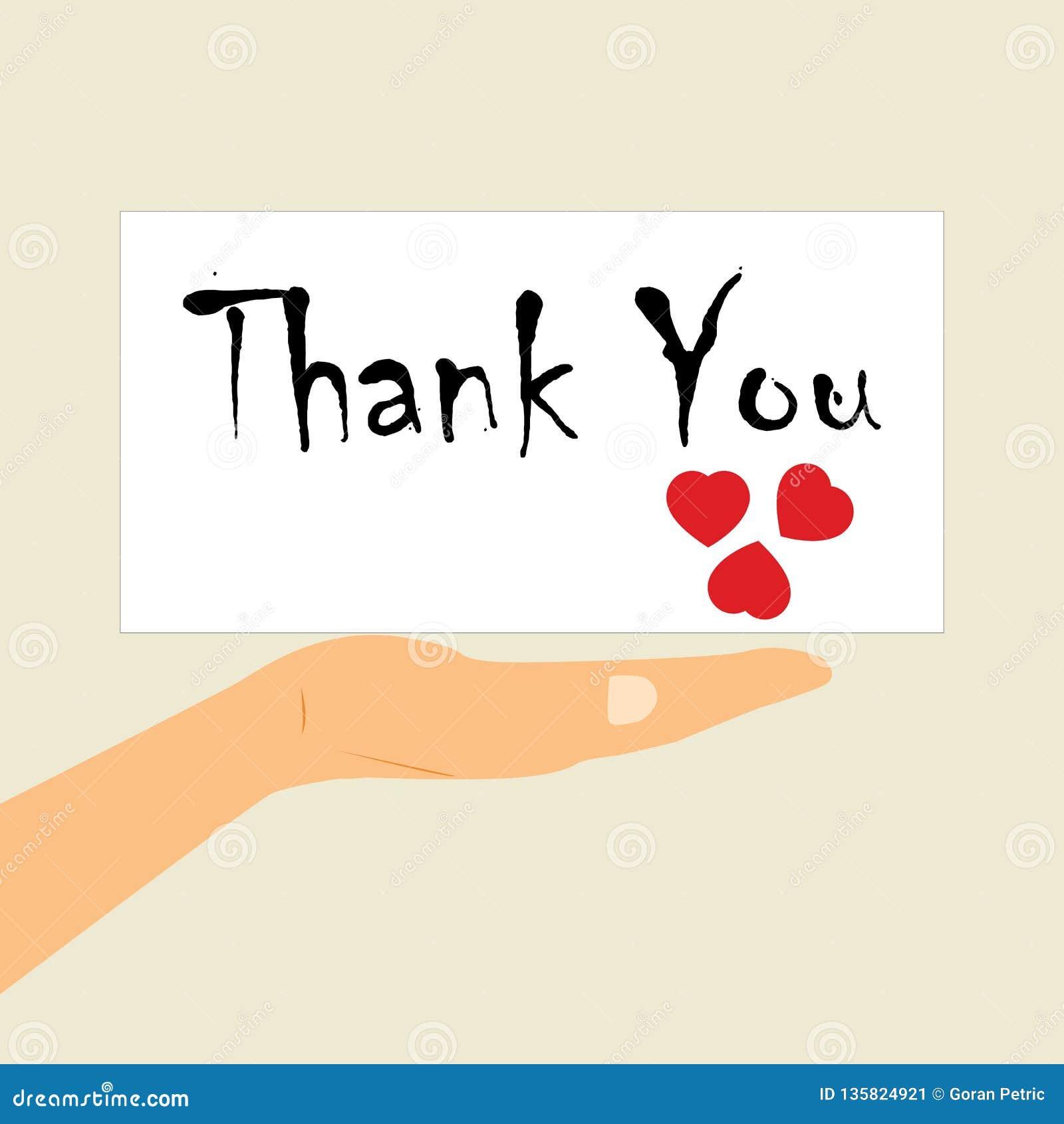 Internationaler Dank- Tag Eine Mitteilung auf der Palme Ihrer Hand
