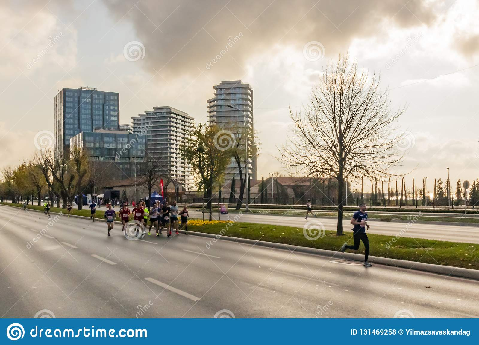 40. internationaler Istanbul-Marathon und -athleten