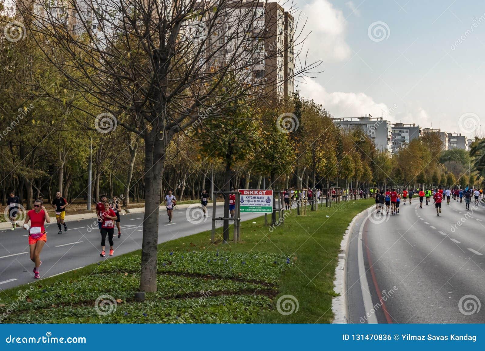 40. internationaler Istanbul-Marathon und -athleten